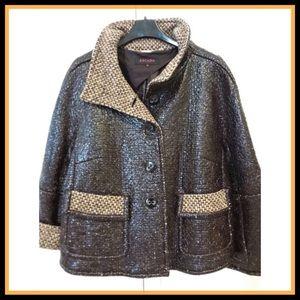 ESCADA WOOL & Polyamide Blazer Jacket 42 EU 12 US